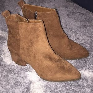 Sale! A new day womens brown seude ankle boots.